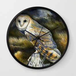 Twilight in the highlands Wall Clock