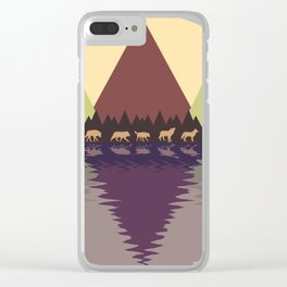 Wolf Pack #9 Clear iPhone Case