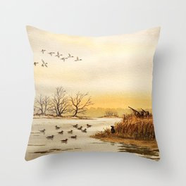 Hunting Pintail Ducks Throw Pillow
