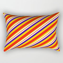 Team Colors,,,red,yellow and blue stripes Rectangular Pillow