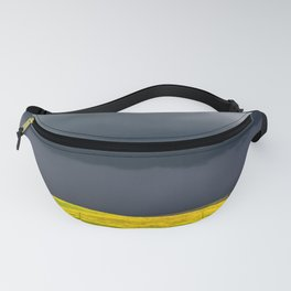 Simply Spring - Thunderstorm Over Yellow Fields in Oklahoma Fanny Pack