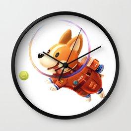 Astronaut Corgi Wall Clock