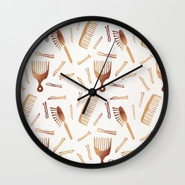 Good Hair Day – Rose Gold Palette Wall Clock