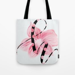 Letter H is pretty in pink Tote Bag