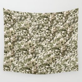 White Linen Baby's Breath Wall Tapestry