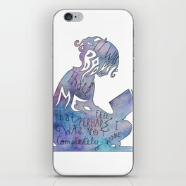 It was Books that Made me Feel Like I was Not Completely Alone iPhone Skin