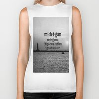 michigan Biker Tanks featuring Michigan by KimberosePhotography