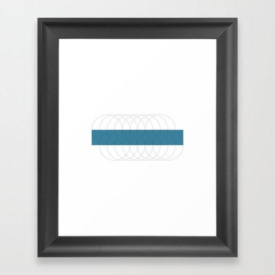 #200 Ripples – Geometry Daily Framed Art Print