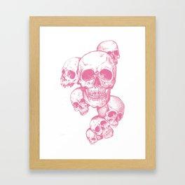 The dead's heads Framed Art Print