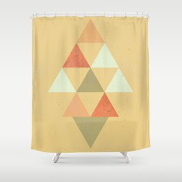 Being Mindful, Geometric Triangles Shower Curtain