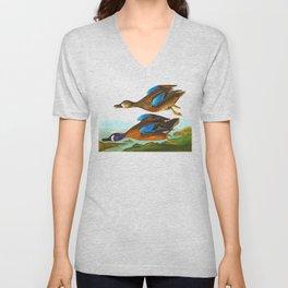 Blue-Winged Teal Bird Unisex V-Neck