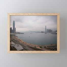 Hong Kong Skyline #decor #society6 #buyart Framed Mini Art Print