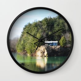 Cabin on the Lake Wall Clock