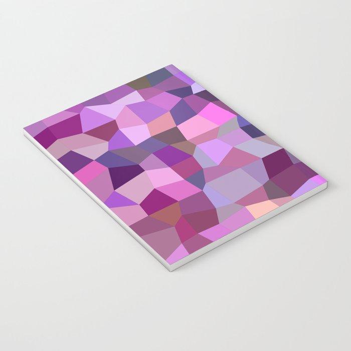 Purplish tile mosaic Notebook
