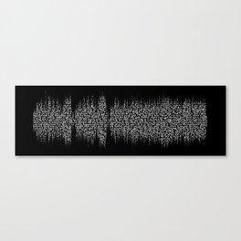 Cornflake Girl with lyrics - Soundwave (for dark background) Canvas Print