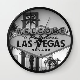 Las Vegas vintage vibe Wall Clock