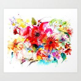 Watercolor garden II Art Print