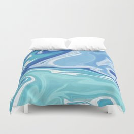 MARBLE - SEA - CLOUDS - SMOKE - WAVES Duvet Cover