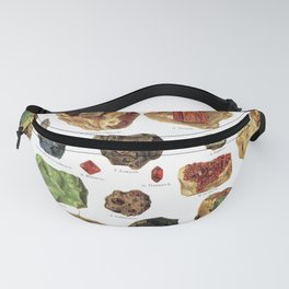 Vintage Gems And Minerals Fanny Pack