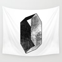 mineral Wall Tapestries featuring Moon Mineral by Mood/Wood