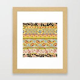 Gypsy Boho Stripe Framed Art Print