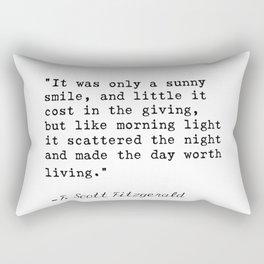 F. Scott Fitzgerald quote 6 Rectangular Pillow