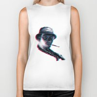 fear and loathing Biker Tanks featuring Fear and Loathing in Las Vegas by Idriss Dabre