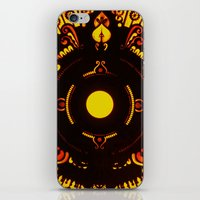 drums iPhone & iPod Skins featuring Gods Drums by Underground Artiste