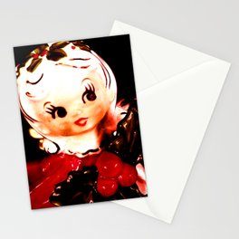 Red Christmas Girl Stationery Cards