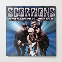 SCORPIONS 50TH ANNIVERSARY WORLD TOUR DATES 2019 LANDAK Metal Print