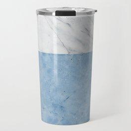 Porcelain blue and white marble Travel Mug