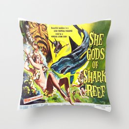 Vintage poster - She Gods of Shark Reef Throw Pillow