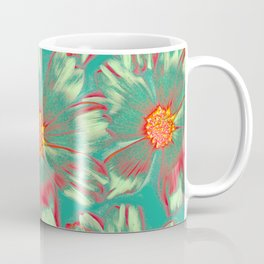 GreenWarped Daisies | Real Dasiy Flowers, Floral Photo, Surreal, Abstract Photo Coffee Mug