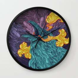Water Crow Wall Clock