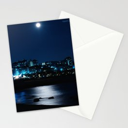 Wolf Moon Rising Over Blue Waters Stationery Cards