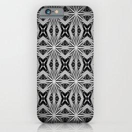 Black Slate Gray Pattern iPhone Case