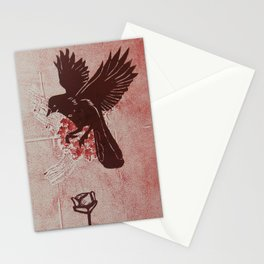 Red Bird Red Flower Stationery Cards