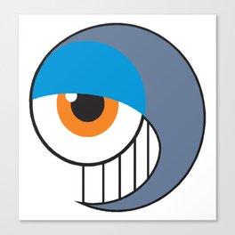 Eyeball Smirking Canvas Print