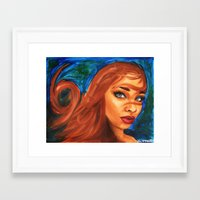 sandra dieckmann Framed Art Prints featuring Sandra by Kiara O'Bannon