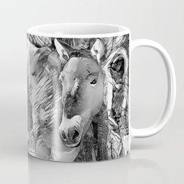 AnimalArtBW_Horse_20170801_by_JAMColorsSpecial Coffee Mug