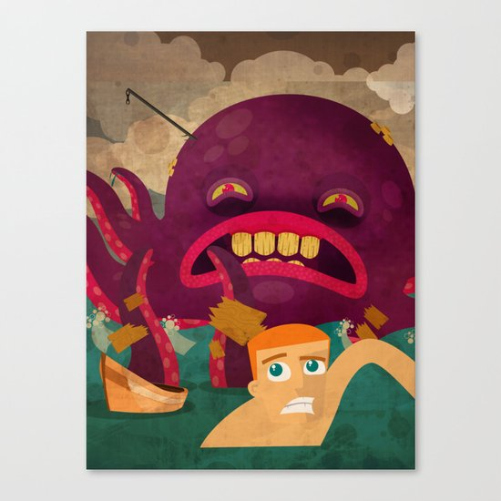 giant octopus Canvas Print