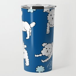 four shades of poodle Travel Mug
