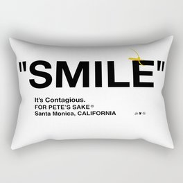 """SMILE"" Rectangular Pillow"