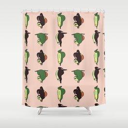 Handstand Avocado Shower Curtain
