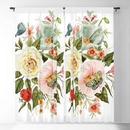 Wildflowers and Butterflies Bouquet  Blackout Curtain