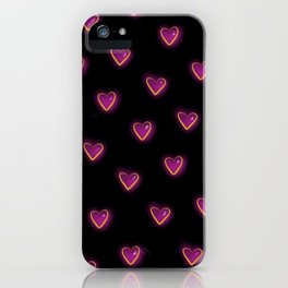 Electric Hearts (Black) iPhone Case