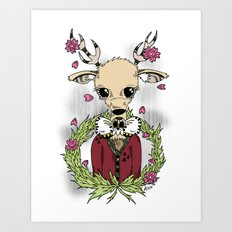 Going Stag. Hunting. Art Print