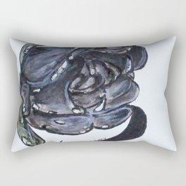 Wet Charcoal Rose Rectangular Pillow