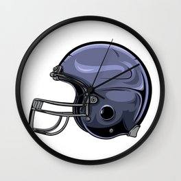 Gridiron Football Helmet Wall Clock