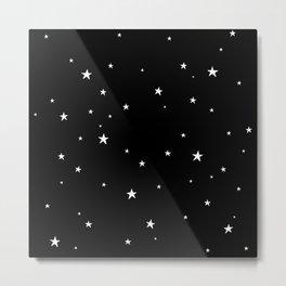 Tiny Stars Dark Metal Print